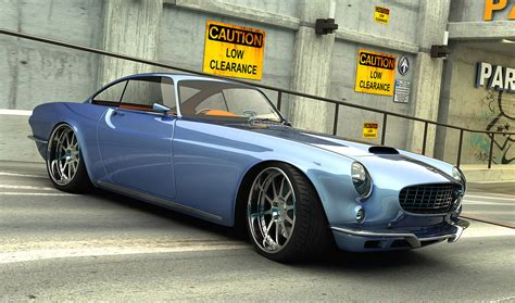 classic volvo volvo p1800 remake renderings