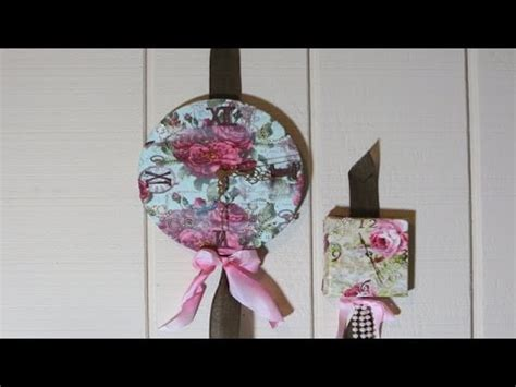 Decoupage With Fabric Tutorial - clock from canvas decoupage with fabric tutorial