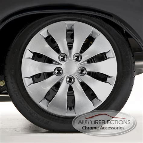 2008 honda accord wheel covers set of four 16 quot silver hubcap wheel covers for 2008 2012 honda accord push on ebay