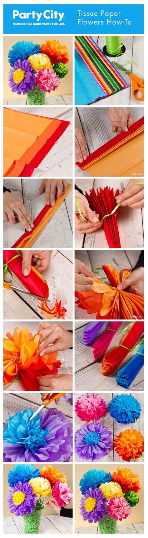Tissue Paper Flowers Step By Step - how to make pretty tissue paper flowers step by step
