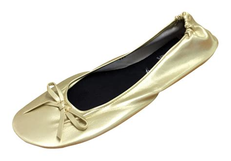 shoes in a bag flats gold silver black roll up fold pumps flats in bag after