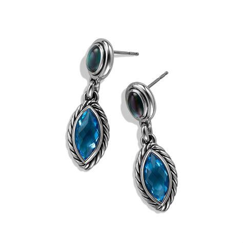david yurman confetti doubledrop earrings with blue topaz