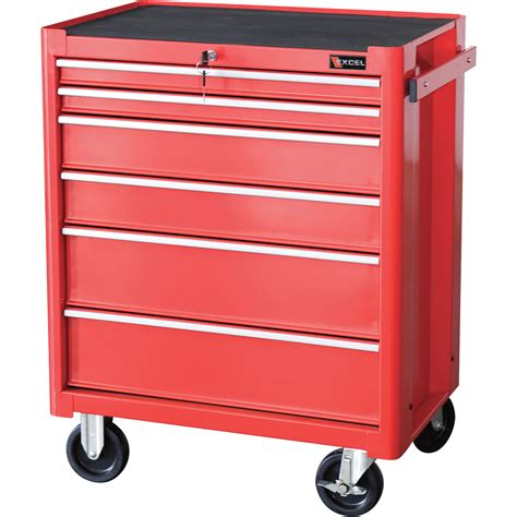 Roller Drawers For Kitchen Cabinets by Excel Roller Cabinet 27in 6 Drawers Model Tb2070bbsb