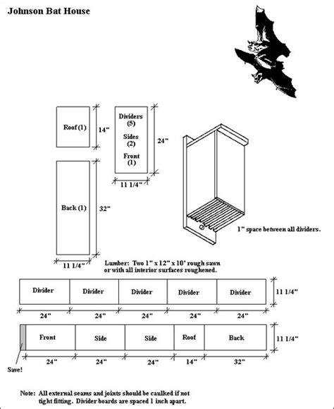 Bat Houses Plans Bat House Plan For The Birds Bat House Plans And Bats