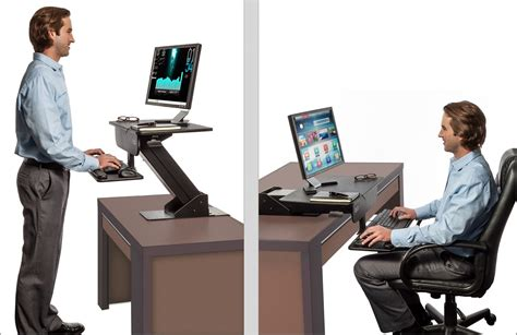 adjustable height gas easy lift standing desk sit