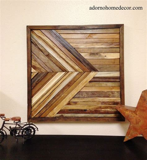 rustic wall art reclaimed teak geometric square wood sculpture wall decor