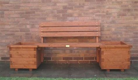 wooden bench planter boxes picnic bench tamworth pub garden furniture tamworth