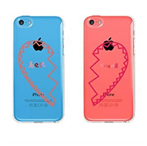 bff clear phone covers best friends hearts matching