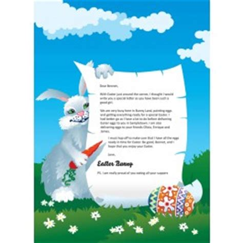 letter to the easter bunny template letter from the easter bunny identity direct 03 04 2011