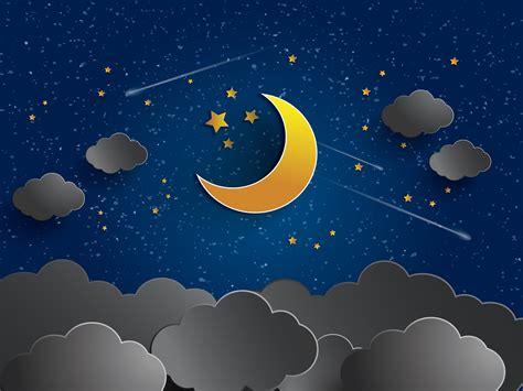 cartoon wallpaper good night animated night sky wallpaper wallpapersafari
