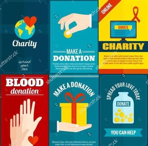A Listers Get Their Design On For Charity donation flyer 7 free psd vector ai eps format donation
