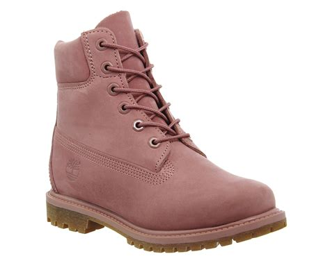 timberland boots pink timberland premium 6 boots in pink lyst