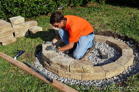 How To Build An Outdoor Firepit How To Build Outdoor Pit Sew Woodsy Sew Woodsy