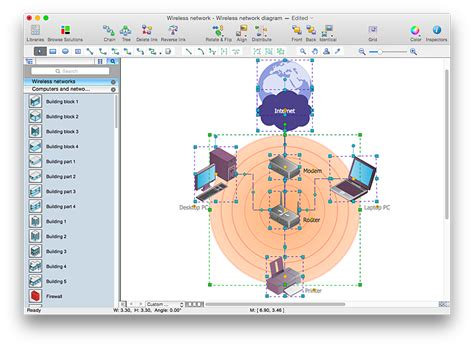 Add A Wireless Network Diagram To A Ms Word Document Conceptdraw Helpdesk Network Diagram Template Word
