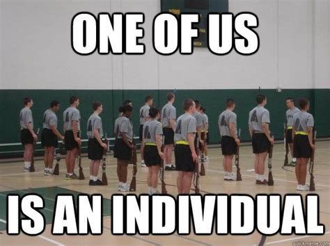 One Of Us Meme - rotc drill team memes quickmeme funny pinterest
