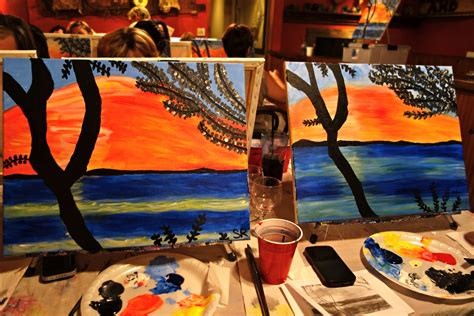 paint nite la paint nite wanderlust in the city