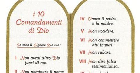 tavole dei 10 comandamenti il viandante cattolico i dieci comandamenti