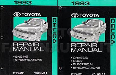 manual repair autos 1993 toyota celica engine control 1990 1993 toyota celica body collision repair shop manual original