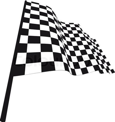 flag white black black and white checked racing flag vector illustration