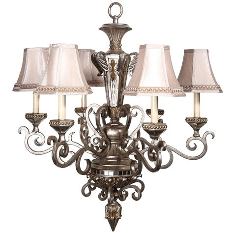 Mirrored Chandelier 1920s Nickel Plated And Mirrored Chandelier With Six Candles For Sale At 1stdibs