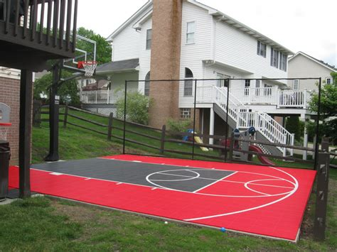 small basketball court in backyard sport court experienced courtbuilders sport court
