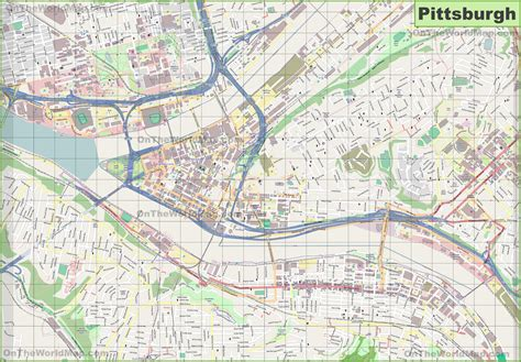 map of usa pittsburgh large detailed map of pittsburgh