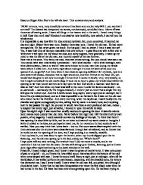 Tell Tale Essay by Tell Tale Analysis Essay Poe S Stories The Tell Tale Summary And Analysis