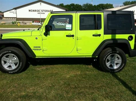 Neon Green Jeep Lime Green Jeep Color Lime