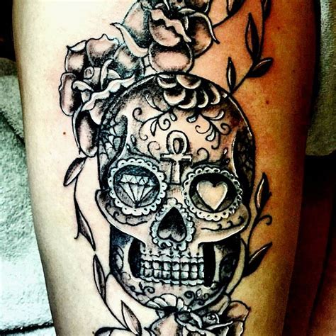 candy skulls tattoos skull images designs