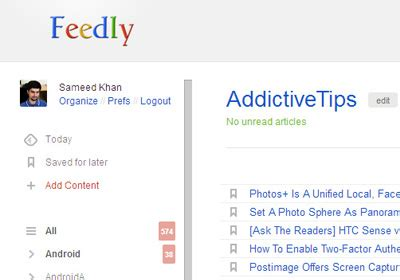 get the google reader look & feel in feedly for chrome