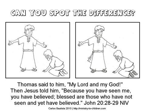 Free Sunday School Worksheets by Doubting Sunday School Worksheet