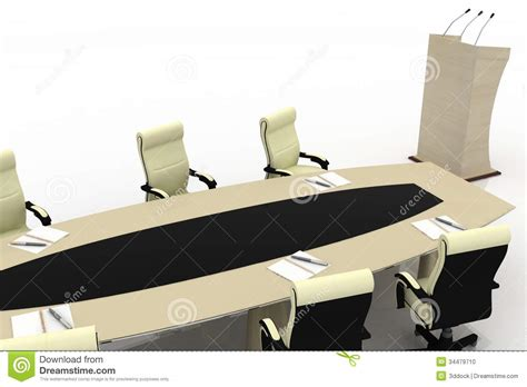 modern conference table chairs conference table for modern office stock illustration
