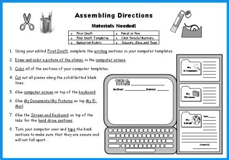 Almost Home Book Report by Computer Book Report Project Templates Worksheets Grading Rubric And More