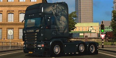 Assassins Creed 24 Bv scania rjl style skin ets2planet