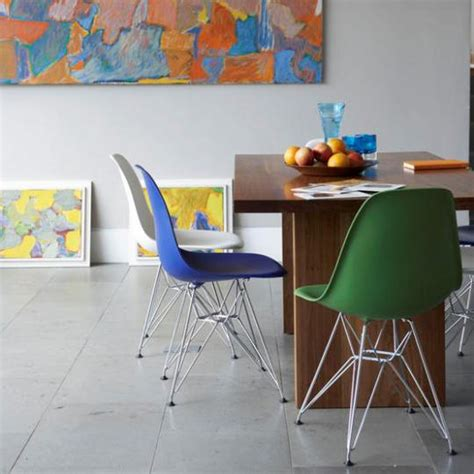 Colorful Dining Room With Multicolored Chairs Colored Dining Room Furniture