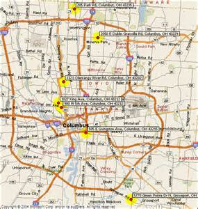 Maps Columbus Ohio by Columbus Ohio Map Bing Images