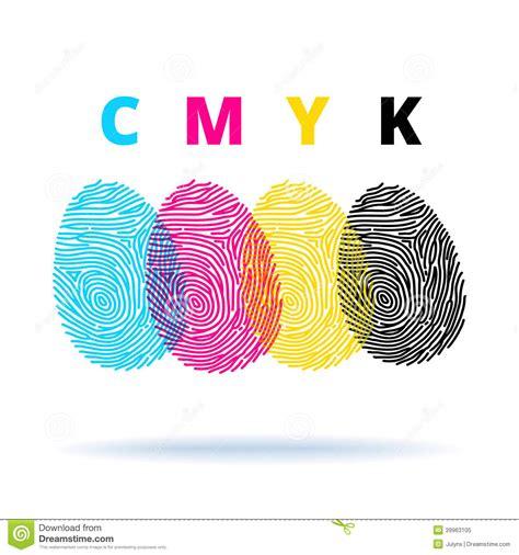 color mode cmyk concept with fingerprints stock vector image 39963105