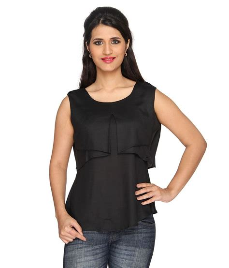 Leyla Top buy layla black rayon tops at best prices in india
