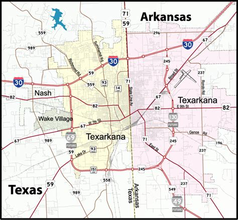 map of arkansas and texas interstate guide interstate 130 arkansas