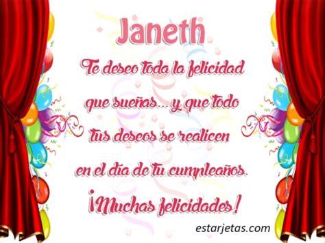 Imagenes De Amor Para Janeth | feliz cumplea 241 os janeth im 225 genes de estarjetas com