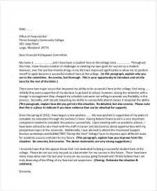 Financial Aid Independence Letter Sle Student Letter