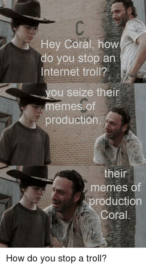Memes Of Production - funny coral walking dead memes of 2017 on sizzle