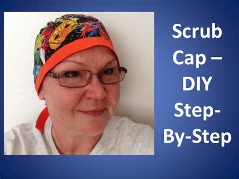 Scrub Larissa scrub caps printable pattern and how to diy tutorial