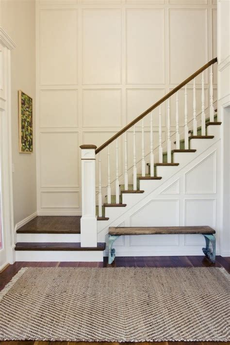 wainscoting stairs paneled staircase houses of the holy