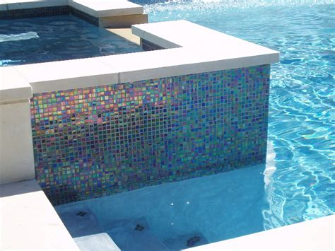 Glass Tile Backsplash Kitchen by Pool Tile Glass Collection Pool Tile Ideas