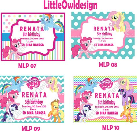 Undangan Invitation Ulang Tahun Birthday Shopskin jual undangan ultah pony custom birthday