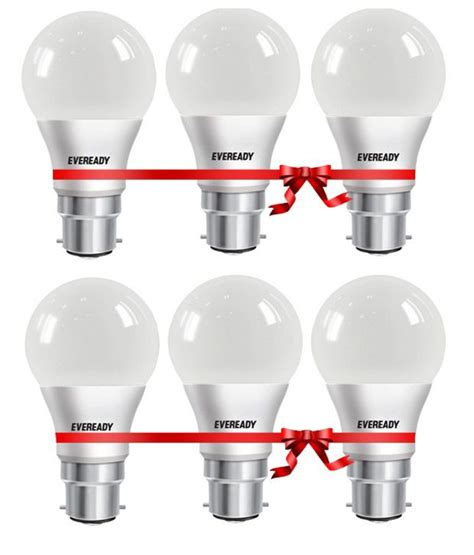 Eveready Led Light Bulbs Eveready 7w 6500k Led Bulbs Set Of 6 Buy Eveready 7w 6500k Led Bulbs Set Of 6 At Best Price