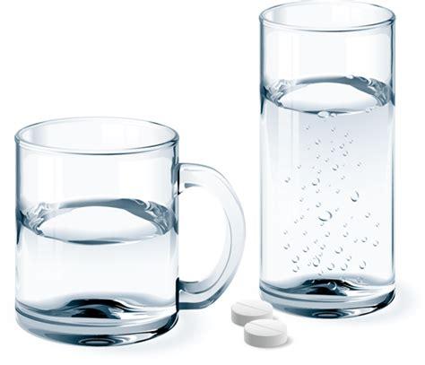 Animal Mug Glass Cup With Water Vectors Set 02 Vector Food Free