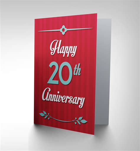 Ecard Gift Cards - anniversary happy 20th twentieth new art greetings gift