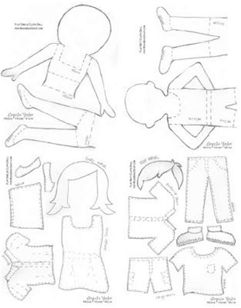 felt dress up doll template fabric quot paper quot dolls dolls paper dolls